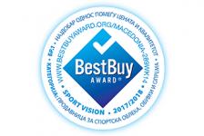 Sport Vision ја освои најновата Best Buy Award за 2017/2018 година во Македонија