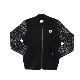 BLACK&WHITE CHUCK PATCH BOMBER