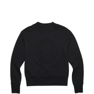 EMBOSSED CHUCK PATCH MOCKNECK SWEATSHIR