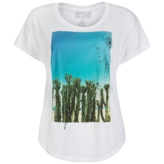 CACTUS PHOTO FEM SCCOP TEE