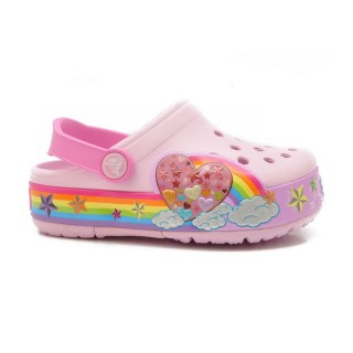 LIGHTS RAINBOW HEART CLOG K