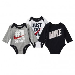 NKB NIKE BOYS 3PC LS BODYSUIT
