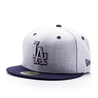 HEATHER TOP LOS ANGELES DODGERS OFFICAL TEAM COLOUR/HEATHER GRAY
