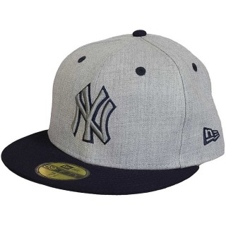 HEATHER TOP NEW YORK YANKEES OFFICAL TEAM COLOUR/HEATHER GRAY