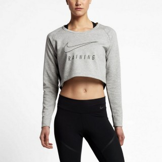 W NK DRY TOP LS VERSA CROP