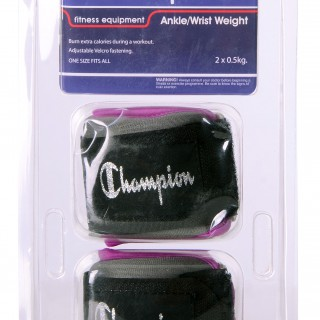 CHAMPION ANK/WRST WTS PURPLE
