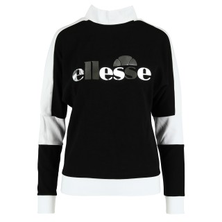 LADIES BLACK-WHITE CREWNECK