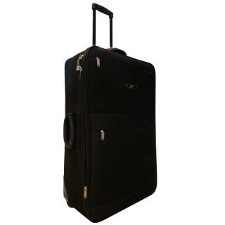 J2C BLACK SOFT SUITCASE 26INCH