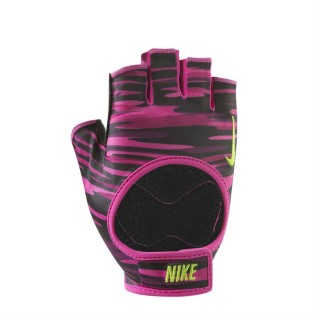 NIKE WOMEN'S FIT TRAINING GLOVES L VIVID PINK/BLACK/VOLT
