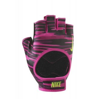 NIKE WOMEN'S FIT TRAINING GLOVES S VIVID PINK/BLACK/VOLT