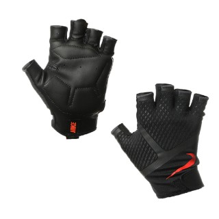 NIKE MEN'S RENEGADE TRAINING GLOVES L BLACK/ANTHRACITE/TOTAL CRIMSON