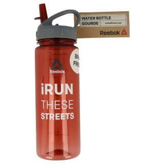 WATER BOTTLE-PL 65CL RED