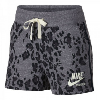 W NSW GYM VNTG SHORT LEOPARD