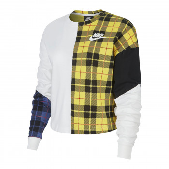 W NSW TOP LS PLAID
