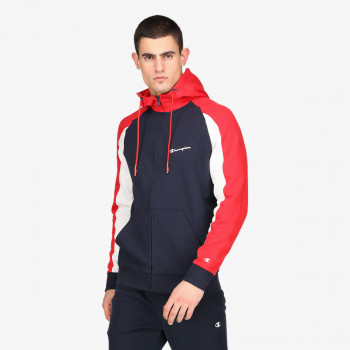COLOR BLOCK FULL ZIP HOODY