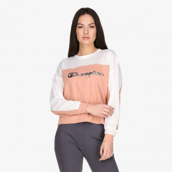 LADY NET CREWNECK