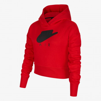 G NSW AIR FT CROP HOODIE HBR