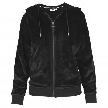 LADIES VELVET FULL ZIP HOODY