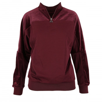 LADIES VELVET CREWNECK