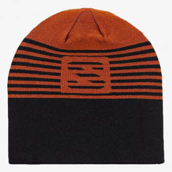 FLATSPIN REVERSIBLE BEANIE UMBER/BLAC