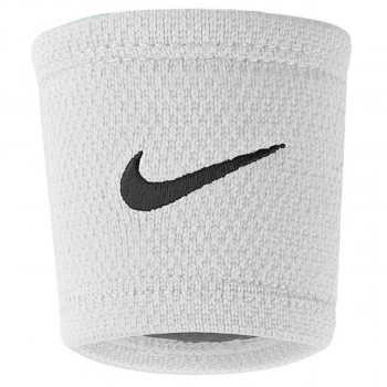 NIKE DRI-FIT STEALTH WRISTBANDS WHITE/WOLF GREY/BLACK