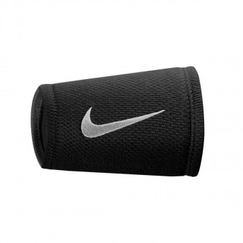 NIKE DRI-FIT STEALTH DOUBLEWIDE WRISTBANDS BLACK/ANTHRACITE/WHITE