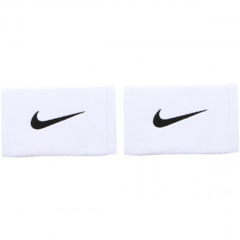 NIKE DRI-FIT STEALTH DOUBLEWIDE WRISTBANDS WHITE/WOLF GREY/BLACK