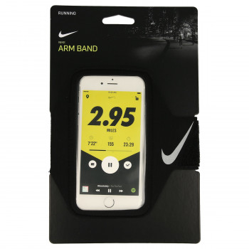 NIKE LEAN ARM BAND BLACK/BLACK/SILVER