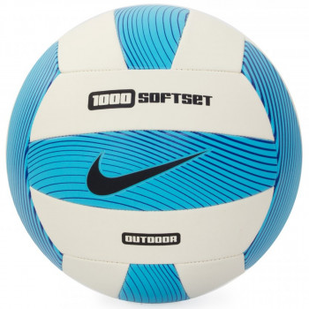 NIKE 1000 SOFTSET OUTDOOR VOLLEYBALL INFLATED WITH BOX ELECTRIC GREEN/WHITE/GAMMA BLUE/BLACK
