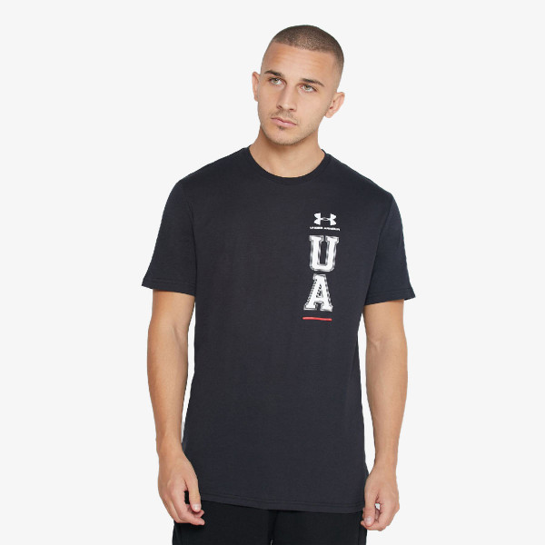UA VERTICAL LEFT CHEST LOGO SS